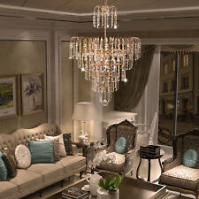 Elegant Crystal Pendant Decoration Ceiling Chandelier Luxury Fixture Lamp