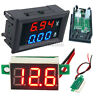 DC100V 10A Voltmeter Ammeter Blue+Red LED Amp Dual Digital Red LED Voltage Meter