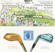 BLOC SOUVENIR CENTENAIRE DE L'OPEN DE FRANCE DE GOLF - 2006