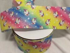 "Unicorn Ribbon 3"" - 75mm wide Sold by 1 metre ideal for big jo jo inspired bow"