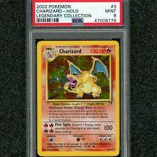 LAST CHANCE! PSA MINT 9 CHARIZARD HOLO WOTC 2002 POKEMON LEGENDARY COLLECTION #3