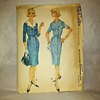 Vintage 1960 McCall's 5554 Double breasted coat dress w 5 gore skirt sz 22 1/2