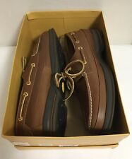SPERRY TOP SIDER GOLD CUP MEN'S SHOES GOLD 2 EYE TAN SIZE 11M EURO 44 1/2