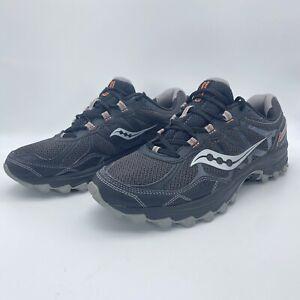 Saucony Excursion TR11 Men's Trail Running Shoes Sz 9.5 Athletic Shoes Gray Blk