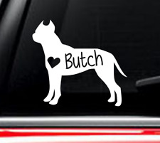 Pit bull american staffordshire terrier Dog car decal with custom name