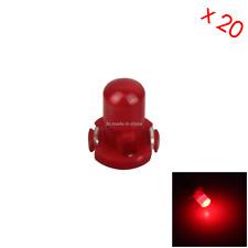 20x Red RV T3 Blub NEO Dash Twist Socket HVAC Cluster Lamp 1 LED Z2954