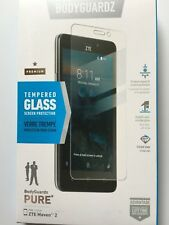 OEM Bodyguardz Pure Tempered Glass Screen Protector for ZTE Maven 2 NEW