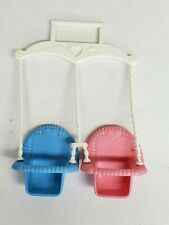 Vtg 1993 Fisher Price Double TWIN SWING for Classic Dream House Loving Family