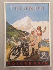 Triumph Motorrader Postcard 1st On eBay Car Poster. Own It!