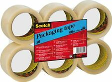 6 Rolls Scotch Packaging Tape, 50 mm x 66 m - Clear Sellotape Packing Sticking