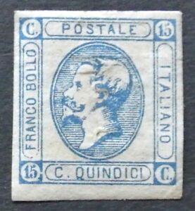 Regno 1863 15c n.12 nuovo senza gomma ottimo esemplare ottimi margini