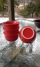 set 4 GUSTO BOWLS scarlet red HOMER LAUGHLIN FIESTA WARE 23 OZ. NEW