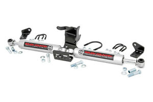 Rough Country Dual N3 Steering Stabilizer for Jeep Wrangler JL 18+ Gladiator JT