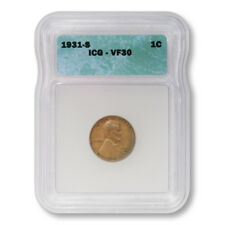 USA Lincoln Wheat Cent 1c 1931 S ICG VF30 Very Fine Key Date Penny