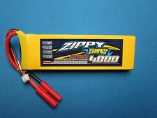 ZIPPY COMPACT 4000mAh 2S 7.4V 25C LIPO BATTERY HXT 4MM CAR TRUCK PLANE BOAT QUAD