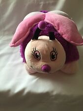 "Fluttery Butterfly Pink and Purple Pillow Pets 18"" Pillow Soft Comfy EUC"