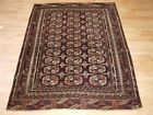 Antique Tekke Turkmen Rug Of Small Size, Rich Red Brown Colour, Circa 1900.