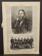 "Harper's Weekly Single Pg The ""Polaris"" Expedition Rescued Ice Raft 1873 B14#07"
