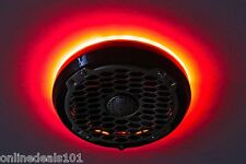 2pc LED Speaker Rings for Rockford Fosgate Marine PM262 and PM262B Red