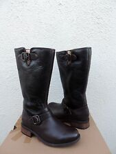UGG BROWN CHANCERY BOMBER LEATHER SHEARLING LINED BOOTS, US 7/ EUR 38 ~ NIB