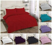 Luxurious Pintuck King Size Duvet Quilt Cover Cotton Bedding Set Pleated New
