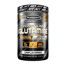 MuscleTech Platinum 100% Glutamine Unflavored Enhance Workout Recovery (60 srv)