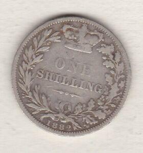 1882 VICTORIA YOUNG HEAD SILVER SHILLING IN GOOD FINE CONDITION