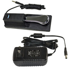 AC Adapter + Sustain Pedal for Yamaha YPT200 YPT210 YPT220 YPT230 YPG235 YPG535