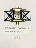 Lionel 2322 GG1 replacement 2332P-1 Pantograph with 8 white Insulators