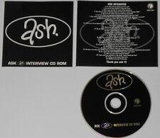 Ash - Interview CD rom - U.K. promo cd  hard-to-find