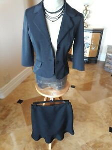 City Triangles Black Skirt Suit, size small
