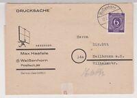 All.Bes./Gem.Ausg., Mi. 916, EF, Weißenhorn, 12.2.47, Streifband-Drucksache