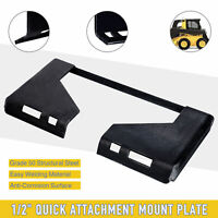 "1/2"" Steel Quick Attachment Mount Plate for Bobcat Kubota Skid Steer Adapter"