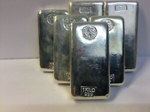 1kg Perth Mint .999 silver bar PMT 1 Kg Silver Bars