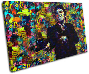 Scarface Movie Pop Iconic Celebrities SINGLE CANVAS WALL ART Picture Print