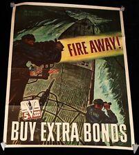 """Fire Away!"" In Memory U.S.S. Dorado WWII Poster by George Schreiber US NAVY"
