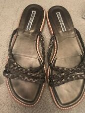 c16944891e576 manolo blahnik 37 women's bronze color leather flat sandals