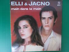 "ELLI ET JACNO MAINS DANS LA MAIN 12"" MAXI SINGLE 1980 COME NUOVO LOOK"