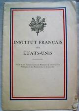 French Institute In The United States Advertising Information Brochure 1918 Wwi