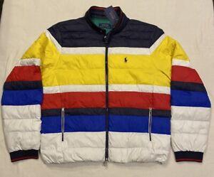 Mens Polo Ralph Lauren Colour Block Packable Down Jacket, Large RRP £350 NEW