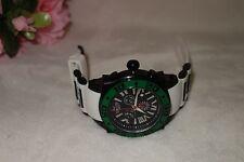 AQUASWISS Chronograph Swiss Quartz Large 50 MM Watch Stainless Steel green NEW
