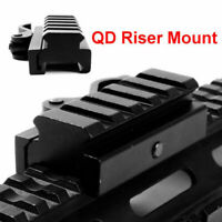 "3/4"" Riser Base Adapte Red Dot Scope 5 Slots Weaver Rail Mount Picatinny Base QD"