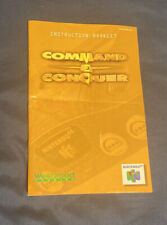 Command & Conquer INSTRUCTION BOOKLET ONLY- Nintendo 64 (n64 manual)