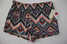 NEW Womens Pull On Shorts Size Large Soft Stretch Casual Summer Chevron Print