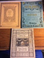 Vintage Sheet Music Books Lot of 3.very Old Emphera,scrapbooking,Crafts