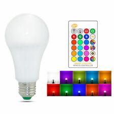 Rgb 5W red, green, Azul y Blanco Bombilla De Luz LED Cambio De Color 10W Bombillas Lámpara 15W E27 + GL1025 remoto