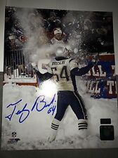 New England Patriots Tedy Bruschi Signed 8x10 Picture