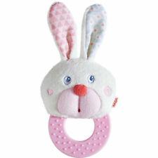 Haba® Greifling Baby Beißring Spielzeug Beißkerl Plüsch Hase Zahnen ab 6 Monate