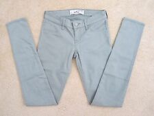 NWT Hollister Womens Skinny Jeans Jeggings Size 00 Pants Grayish Green
