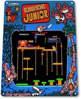 Donkey Kong Junior Classic Arcade Marquee Game Room Wall Decor Metal Tin Sign